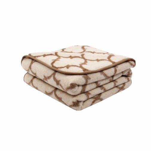 Merino Wool Blanket Latte – Single Layer
