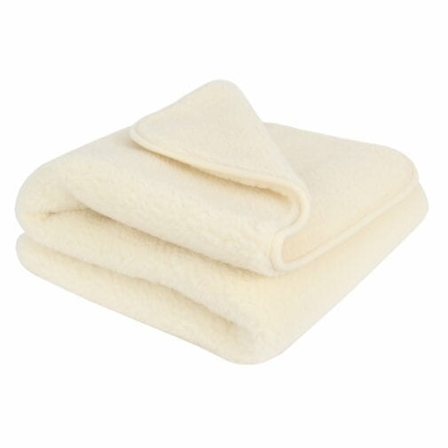 Merino Wool Blanket Ivory – Double Layer