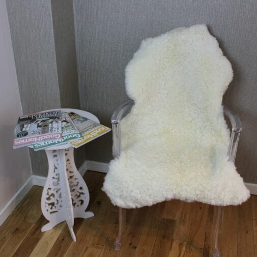 Curly Leicester Ivory Sheepskin Rug CL139