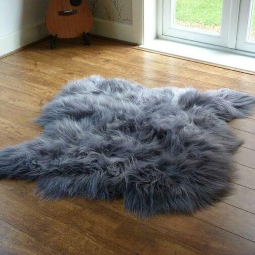 Icelandic Sheepskin Rug 2 Skin Grey S