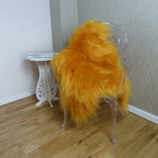 Icelandic Sheepskin Rug Golden Yellow