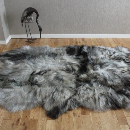 Natural Grey Icelandic Sheepskin 4 Skin Grey ING4S45