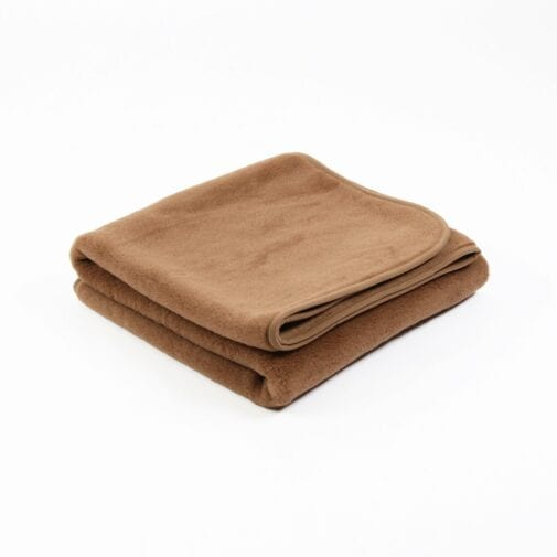 Camel and Merino Wool Mattress Topper/Underblanket Brown – Single Layer