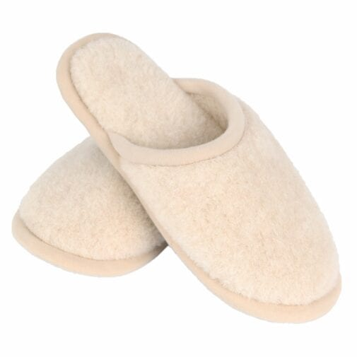 Camel and Merino Wool Unisex Slippers – Beige