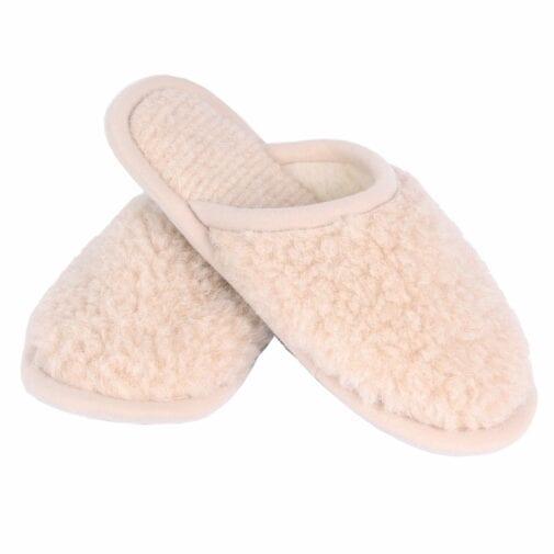 Merino Wool Unisex Slippers – Beige