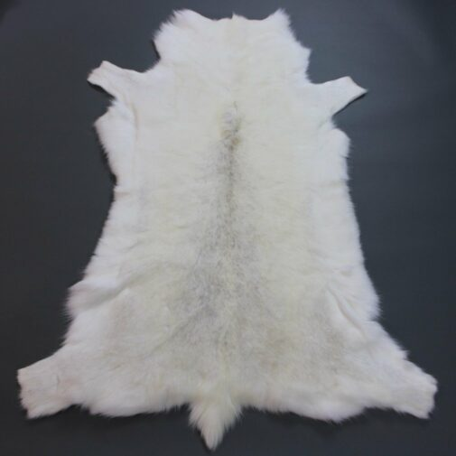 White Reindeer Hide Rug WR206