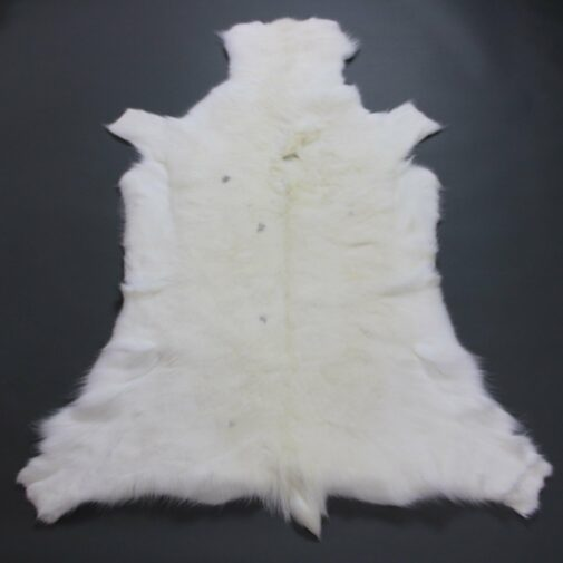 White Reindeer Hide Rug WR207