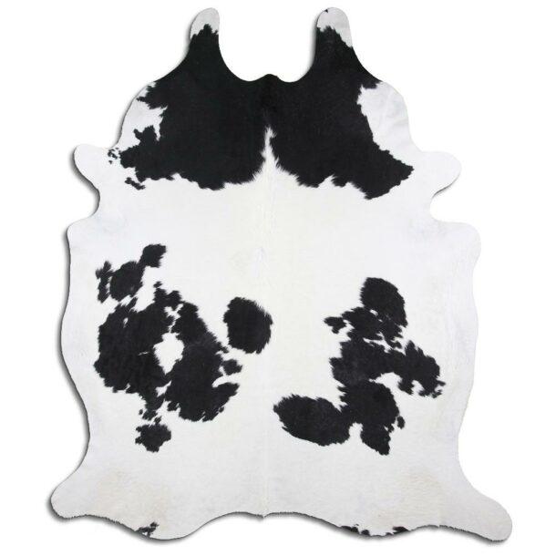 Cowhide Rug Black and White C450