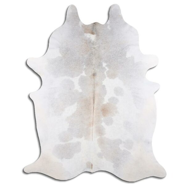 Cowhide Rug Exotic Grey and White