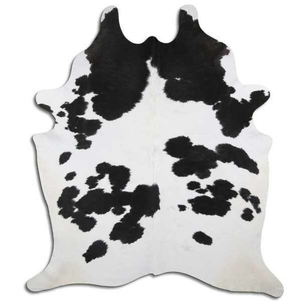 Cowhide Rug Black and White C471