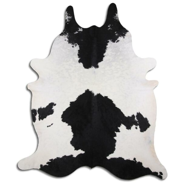 Cowhide Rug Black and White C490