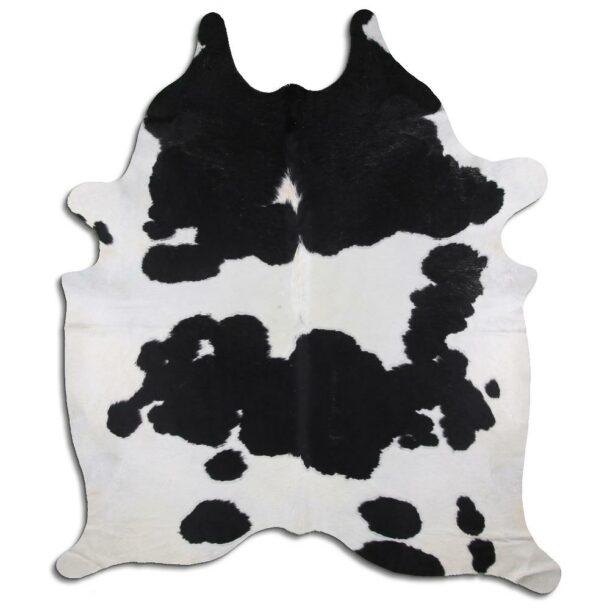 Cowhide Rug Black and White C495