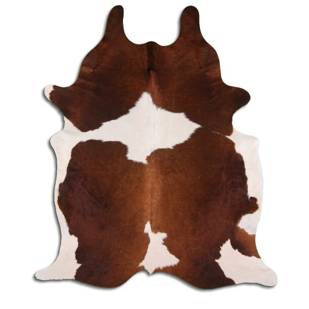 Cowhide Rug White and Brown C500