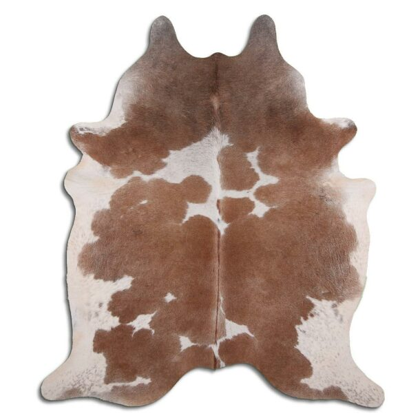 Cowhide Rug Exotic White and Brown C516