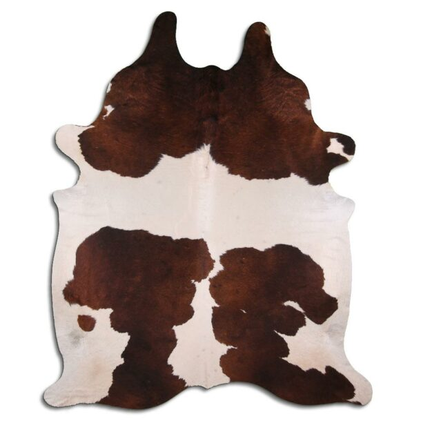 Cowhide Rug White and Brown C565