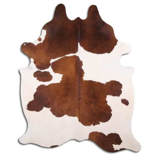 Cowhide Rug White and Brown C602
