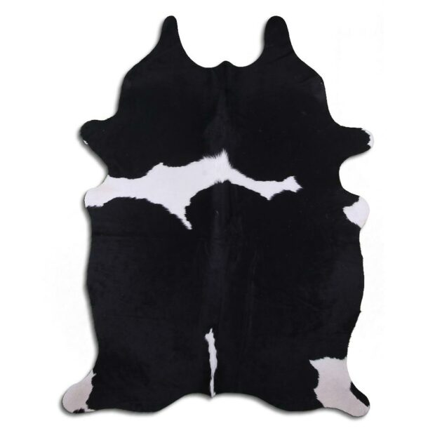 Cowhide Rug Black and White C609