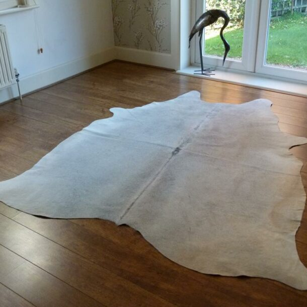 Cowhide Rug Grey and White C741