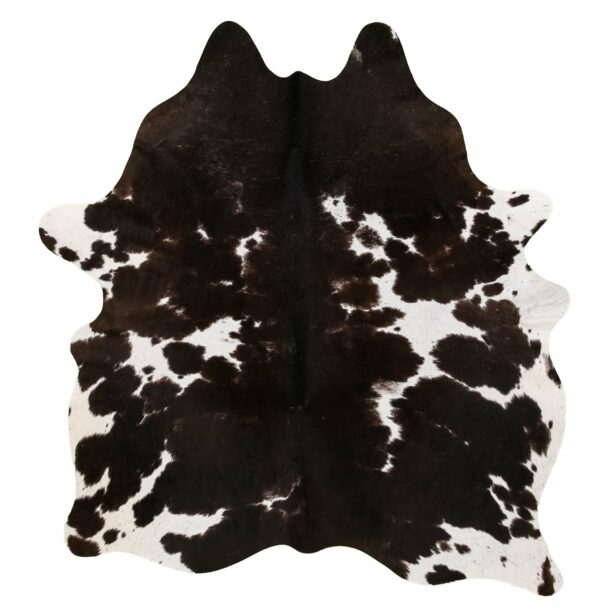 Cowhide Rug Brown and White C305