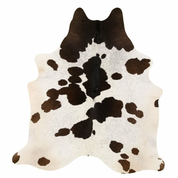 Cowhide Rug Brown and White C268