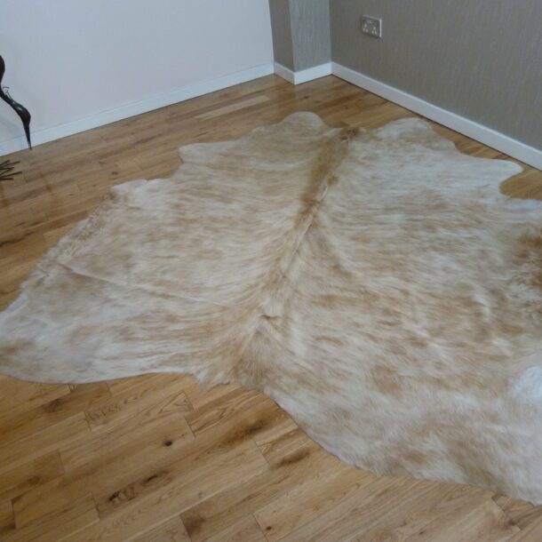 Cowhide Rug Exotic Brown and White C1148