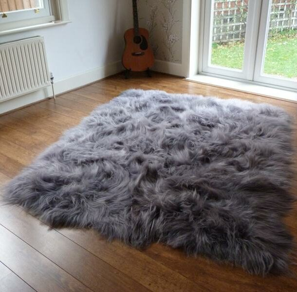Icelandic Sheepskin Rug 8 Skin Grey