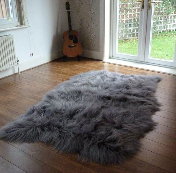 Icelandic Sheepskin Rug 4 Skin Grey