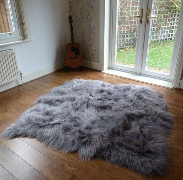 Icelandic Sheepskin Rug 6 Skin Grey