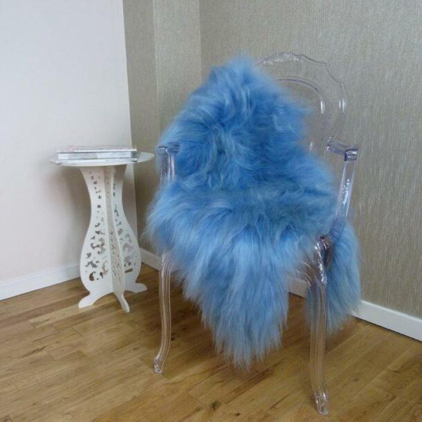 Icelandic Sheepskin Rug Blue