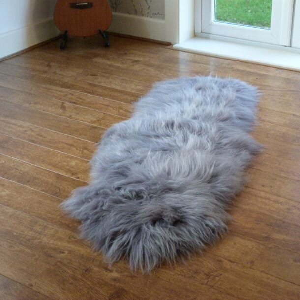 Icelandic Sheepskin Rug Double Grey