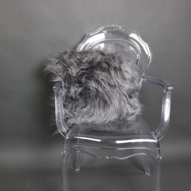 Icelandic Sheepskin Cushion Grey