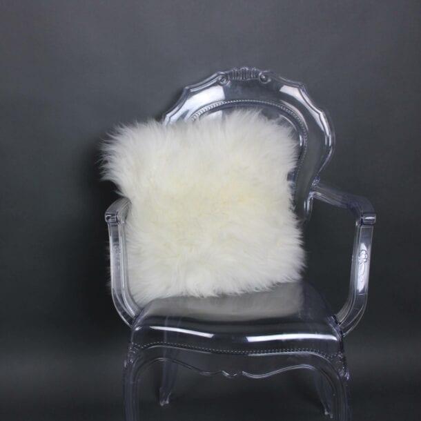 British Sheepskin Cushion Ivory