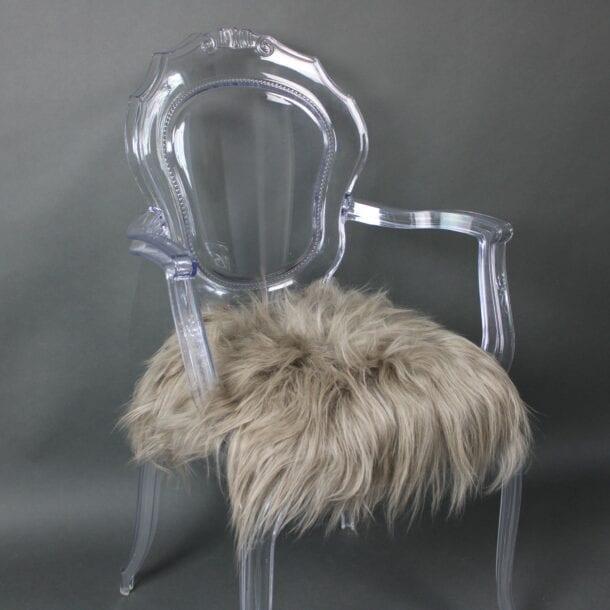 Icelandic Sheepskin Chair Pad Taupe