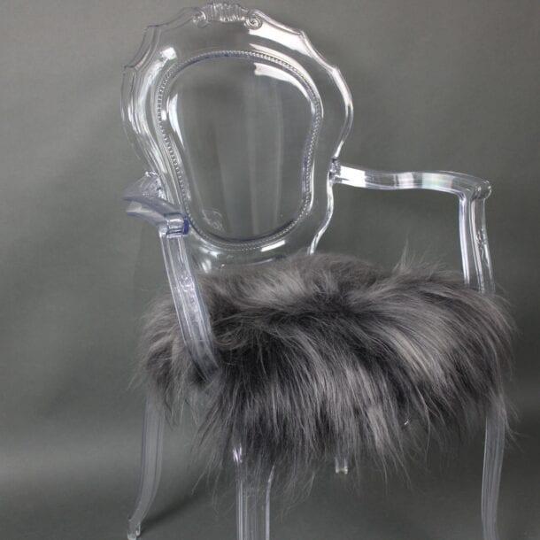 Icelandic Sheepskin Chair Pad Graphite