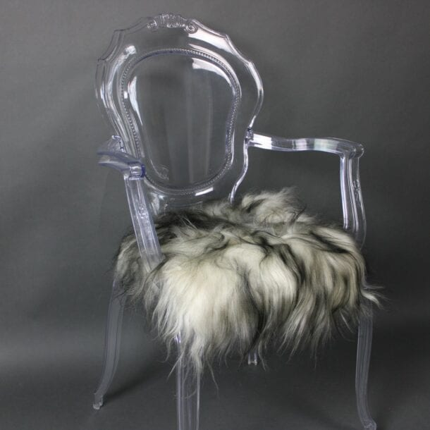 Icelandic Sheepskin Chair Pad Dark Tops