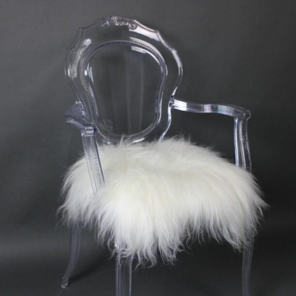 Icelandic Sheepskin Chair Pad Ivory