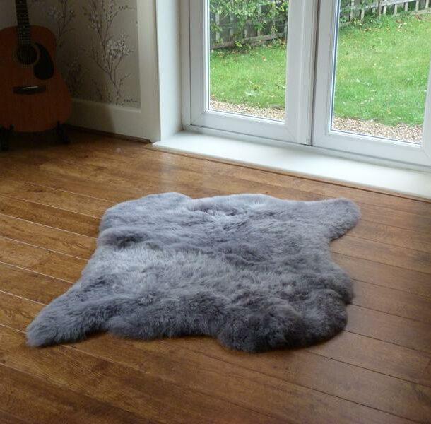 Icelandic Sheepskin Rug 2 Skin Grey Shorn