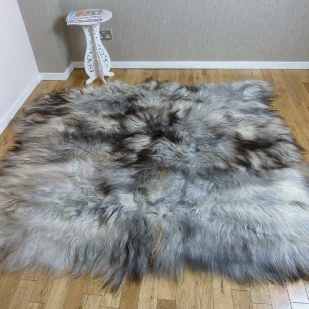 Icelandic Sheepskin Rug 6 Skin Natural Grey ING6S38