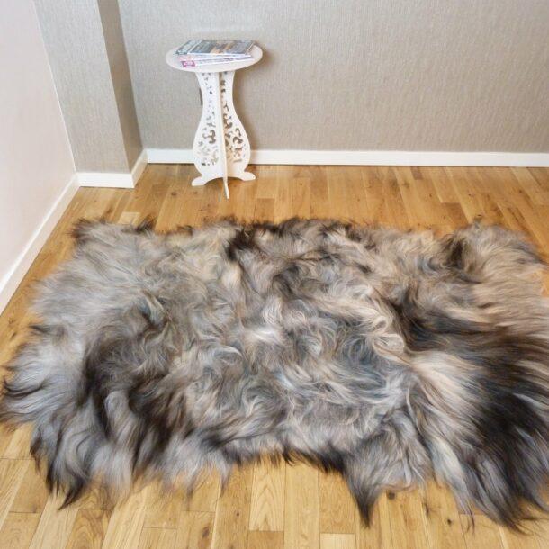 Natural Grey Icelandic Sheepskin Rug 3 Skin ING3S12