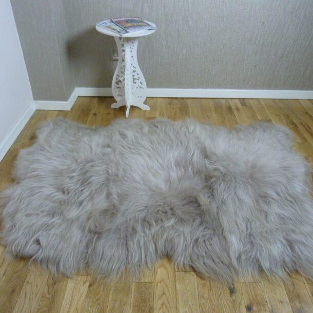 Icelandic Sheepskin Rug 3 Skin Linen