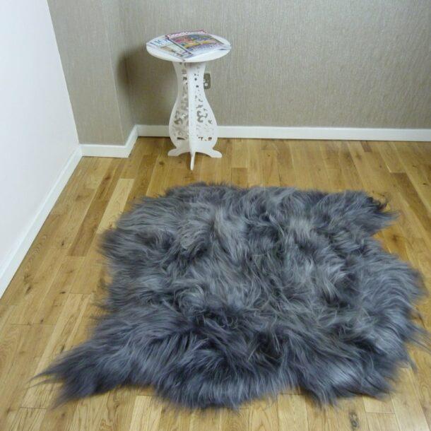 Icelandic Sheepskin Rug 2 Skin Steel