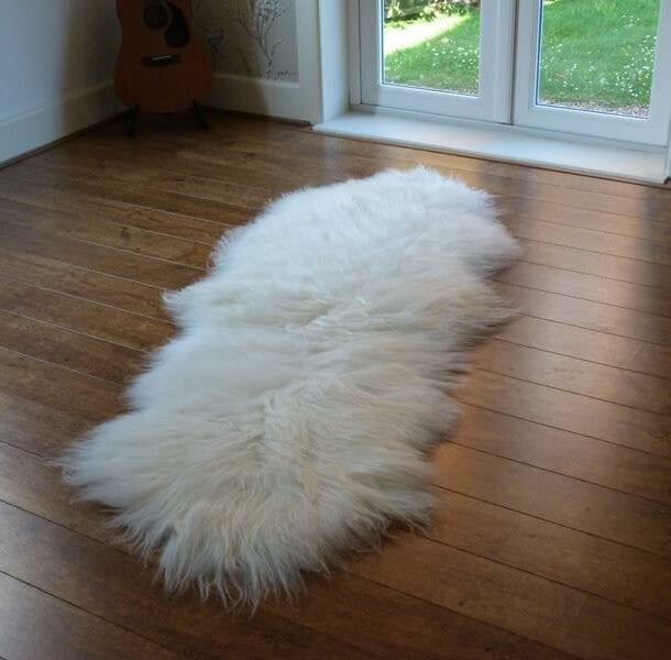 Icelandic Sheepskin Rug Double Ivory