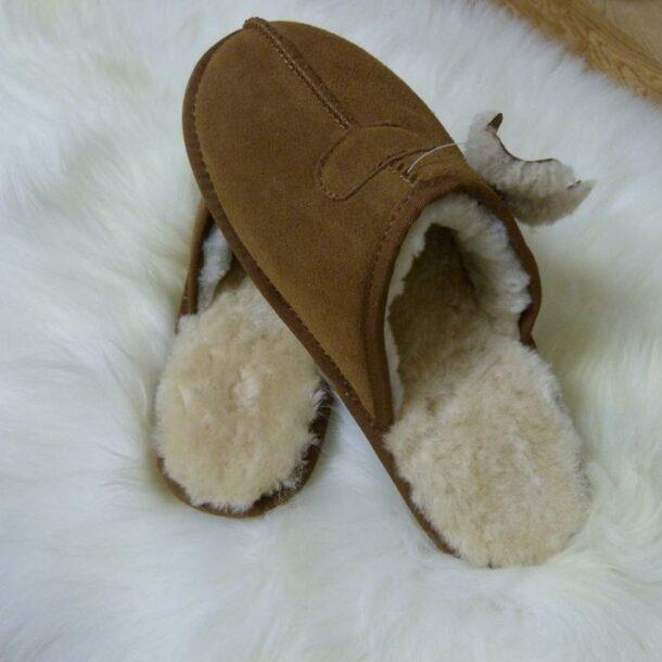 Natural Sheepskin Men's Slippers
