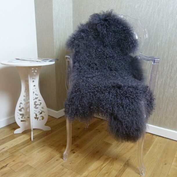 Mongolian Lambskin Rug Grey