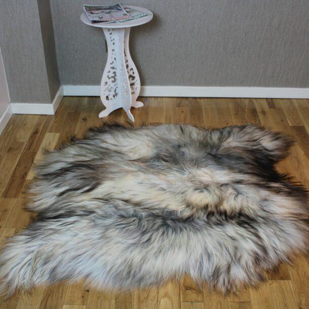 Icelandic Sheepskin Rug 2 Skin Grey ING2S93