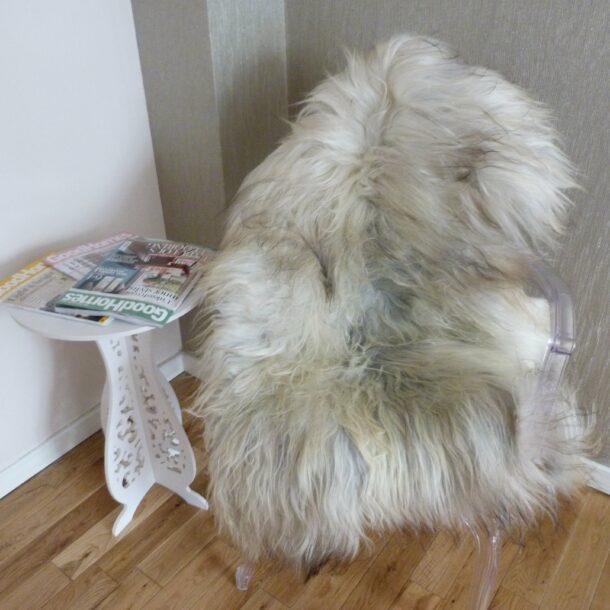 Natural Grey Icelandic Sheepskin Rug ING310