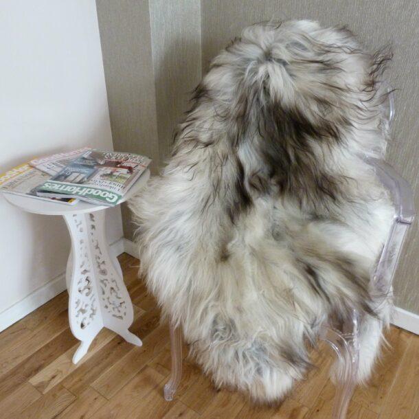 Natural Grey Icelandic Sheepskin Rug ING312