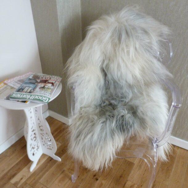 Natural Grey Icelandic Sheepskin Rug ING314