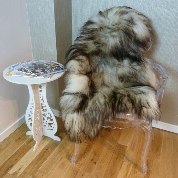 Natural Grey Icelandic Sheepskin Rug ING303