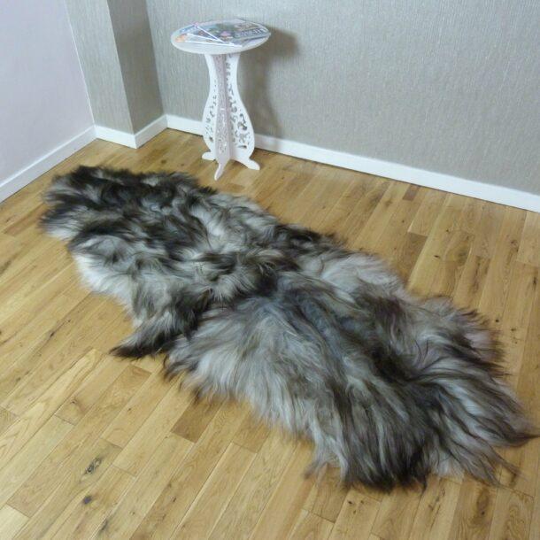 Icelandic Sheepskin Rug Double Natural Grey INGD57